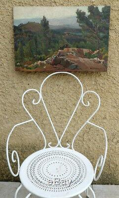 Germaine Garcin 1891. Grand & Remarquable Paysage Animee En Haute-provence