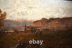 Giacinto Corsi DI Bosnasco Italien Italie Paysage Impressionniste XIX