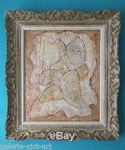 Gino GREGORI Rare Tableau HST huile toile 1955 Braque Picasso Montparnasse 62ans