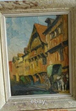 Gobert Huile Originale Normandie Vue De Lisieux Vers 1930