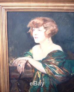 Grand portrait de femme du peintre Wilhelm Viktor Krausz