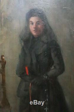 Gustave Colin Peinturejeune Fille En Costume D'eglise 1891