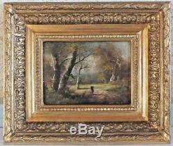 HSP huile signé Gourdon peinture tableau (n°1)