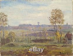 Henry Marie Charry Tableau Bois Circa 1920 Peintre Lorrain St Rémy Chevreuse