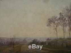Henry Marie Charry Tableau Bois Circa 1920 Peintre Lorrain St Rémy Chevreuses