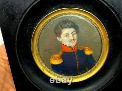 Hippolyte CHAPON (c. 1790-) Portrait Militaire & Miniature & Peinture & 1824