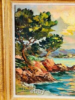 Huile Sur Bois Barthelemy Franco (1923-) Marine Sud De La France