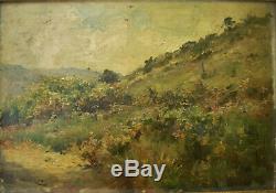 Huile Sur Bois Environ D'aix En Provence Signee Ducros Vers 1920