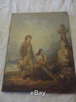 Huile Sur Bois Signee A. Delacroix