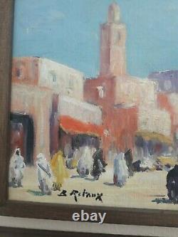 Huile Sur Panneau Bois Signee B Retaux orientaliste Marrakech