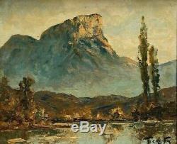 Huile Sur Panneau Signee Par Francis Cariffa Le Mont Granier Cadre Bois B3006