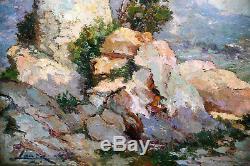 Huile Sur Panneau-post Impressionniste-louis Lanza-ecole Provencale-paysage