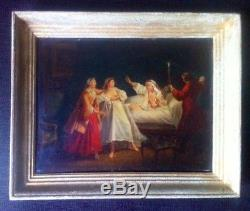 Huile sur Bois-Lancret-Lafontaine-Louvre-Boisfremont-18eme. French Painting