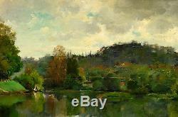 Huile sur bois 19ème impressionniste franche-comté