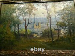 Huile sur bois fin 19 eme 1847-1931 de Samuel Frere signee S. Frere Rouen