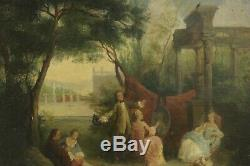 Huile sur bois, fin XVIIIème siècle / Oil on wood, late 18th century