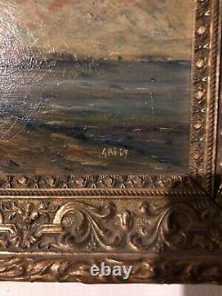 Huile sur bois très beau tableau style impressionniste