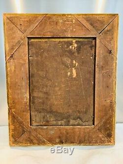 Huile sur panneau bois LA FILEUSE signée FRANCIA, fin XIXe début XXe