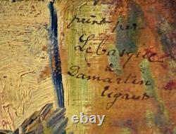 Huile sur panneau de bois de Henri LEBASQUE, début XXème
