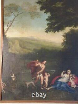 Huile sur toile 18 eme grand format