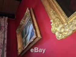 Huile sur toile de la fin du XIXe Nu féminin Beau cadre en bois doré