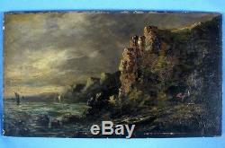Intéressante Huile sur Panneau portant la Signature de GÉNIS / XIXè siècle