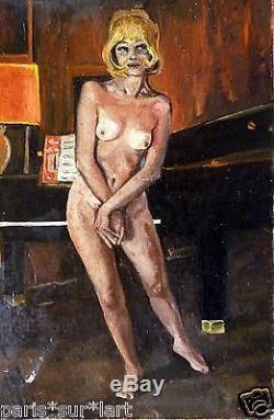 JACQUES-LOTI (1926) HsP Nu Années 50' Jeune Peinture Nouvelle Ecole de Paris