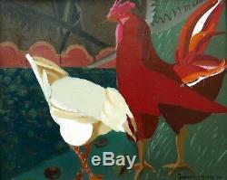 Jacqueline GILSON Maurice DENIS tableau Atelier Art Sacré nature morte coq poule
