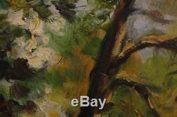 Jacques Bétourné (1922-1984) Très Rare Peinture Impressionniste Huile Barbizon