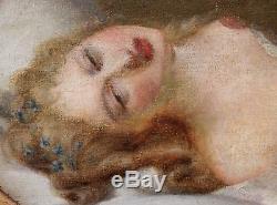 Jacques VALLIN, Danae, tableau, peinture, érotique, femme nue, erotica, érotisme