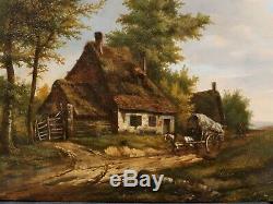 Jan Bernard DE VRIENDT Devriendt tableau paysage belge GAND peinture Belgique