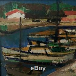 Jean Hugon Piraillan Cap Ferret Bassin d'Arcachon 1952 Peintre Bordelais HSP
