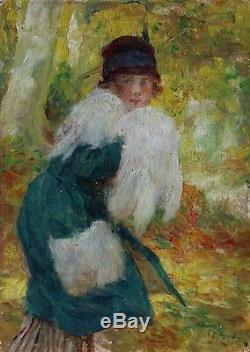 Jeune femme à la fourrure, Edouard Zier (1856-1924)