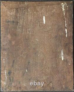 Jeunes femmes au collier huile sur bois vers 1850 anonyme