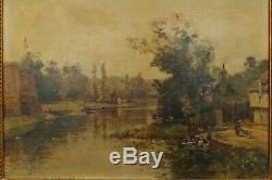 Jolie petite rivière animée, Maurice Lévis (1860-1940)