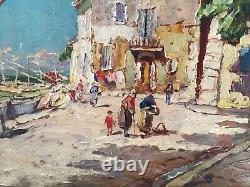 Joseph HURARD Grande Huile sur Panneau Martigues Avignon Marseille