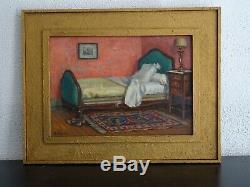 L'ardèche Des Peintres-henri De Saint Jean (1868-1937)-scène D'intérieur/chambre