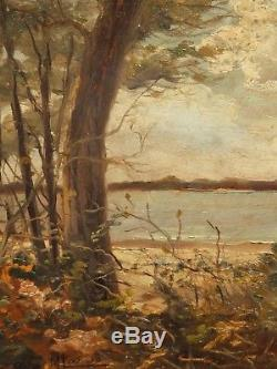 Lac d' Hossegor en 1931, tableau de Maurice Larue oncle Jean-Gabriel Domergue