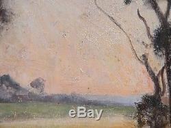 Landes au soleil couchant Bordeaux, Paul Sébilleau (Corot, Auguin.)