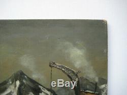 Leblanc Maurice Huile Sur Panneau Signée Handsigned Oil On Wood Panel Crozant
