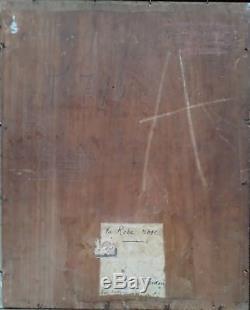 Leo Fontan Elegante Courtisane Folles Peinture Ovale Rousse Huile Francais