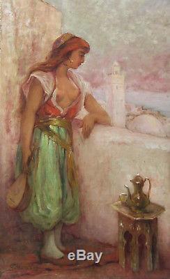 Leon Geille De Saint Leger Tableau Femme Art Francais Orientaliste Orientalisme