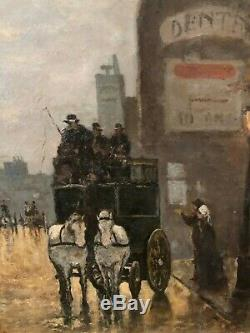 Leopoldo Burlando (1841-1915) Fiacre à Milan, Circa 1880 Ecole italienne
