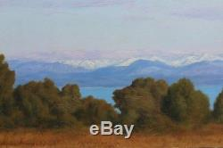 Les Alpes vues d'Antibes 1899, Georges Huet (1860-1935)