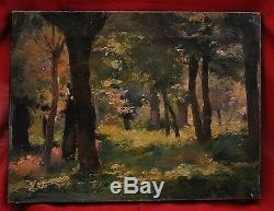 Louis Adolphe TESSIER(1858-1915)- Huile sur Toile -Lumière en sous bois