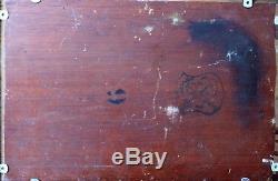 Louis GAIDAN 1847-1925 Bord de mer Méditerranée Huile sur bois peinture tableau