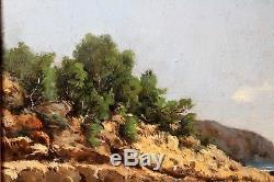 Louis GAIDAN, Paysage, bord de mer, Méditerranée, tableau, France, XIXe siècle
