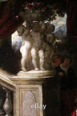 Louis Gabriel Bourbon-Leblanc (1813-1902) signé et daté-Tableau ancien