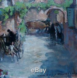 Louis Rollet 1895-1988. Collonges-la-rouge En Corrèze. Grand & Beau Tableau