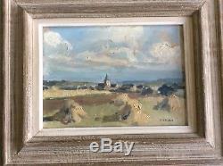 Lucien Callé Village de Hellion en été près St-Brieuc Ec Bretonne Hsp datée 1954